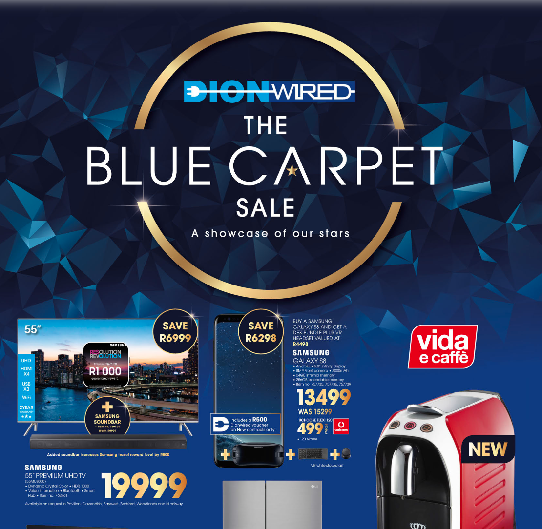 Dion Wired: The Blue Carpet Sale