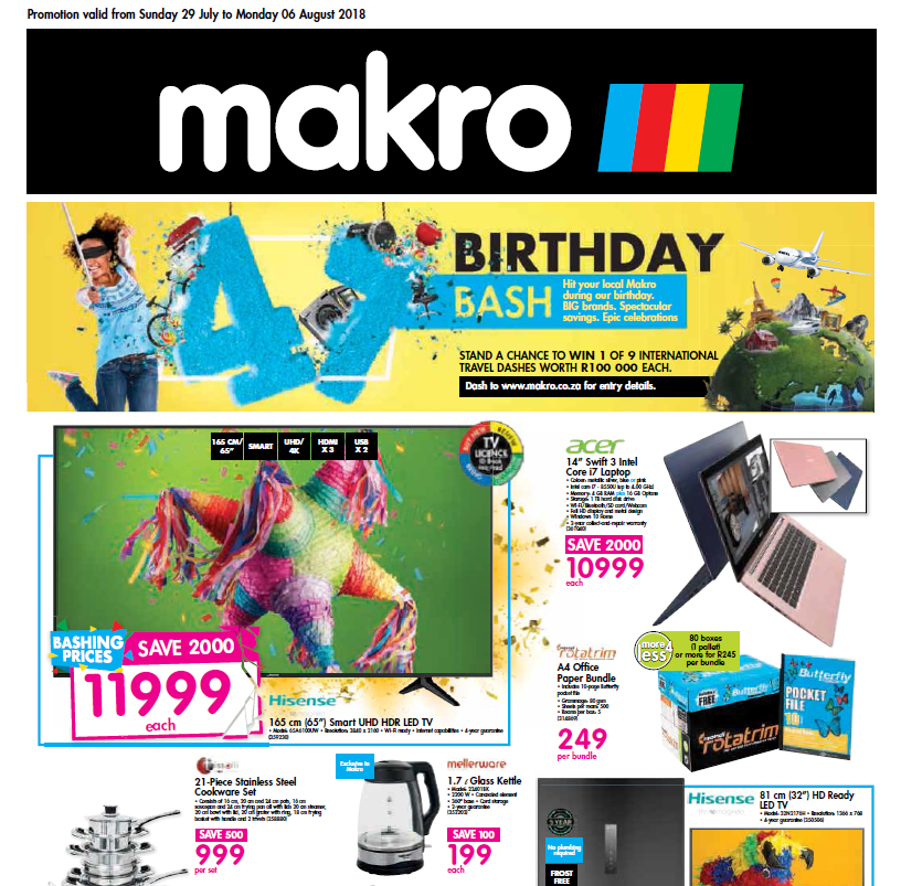 Makro: Birthday Bash Specials
