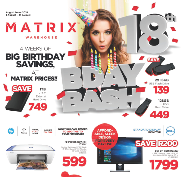 Matrix Warehouse: Birthday Specials