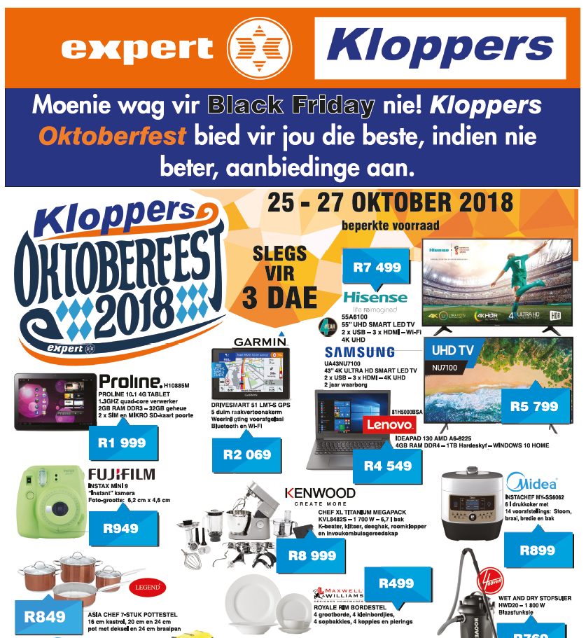 Kloppers: Oktoberfest Promotions