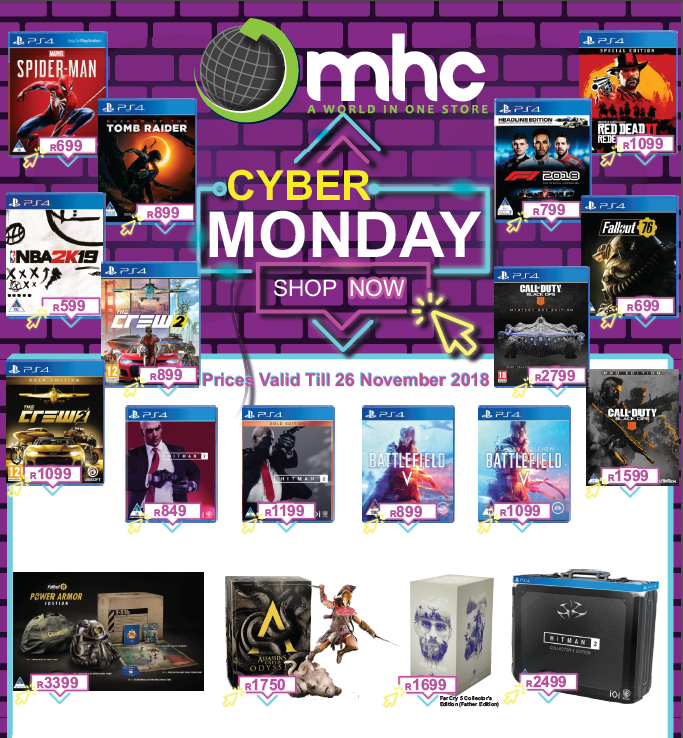 MHC World: Cyber Monday Promotions