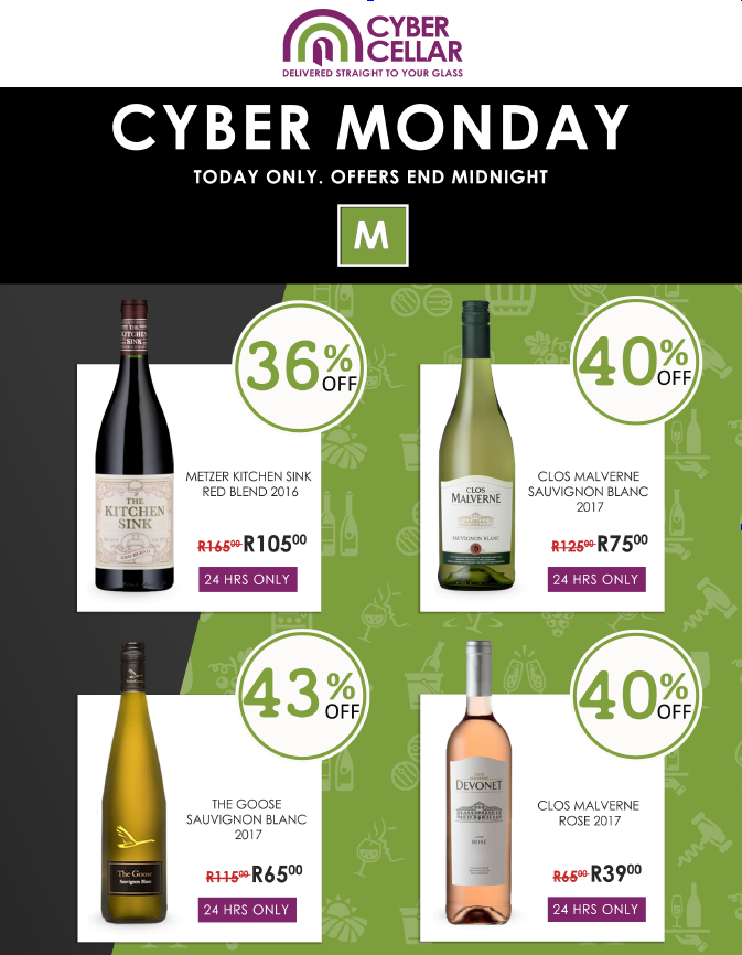 Cybercellar: Cyber Monday Promotions