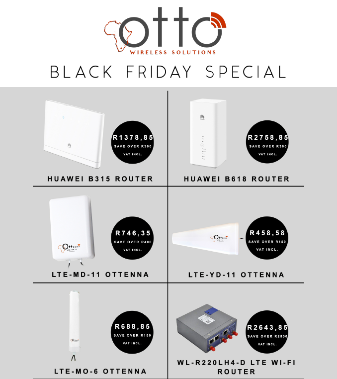 Otto Wireless Solutions: Black Friday Promotions