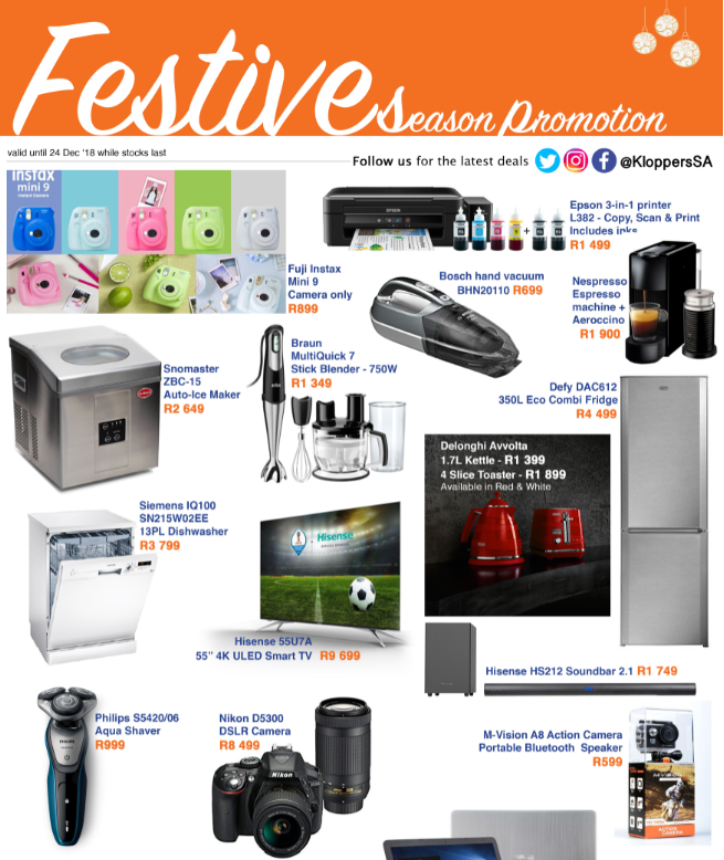 Kloppers: Festive Season Promotion
