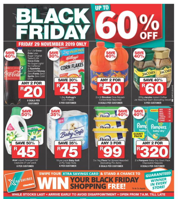 Checkers Gauteng: Black Friday Promotions