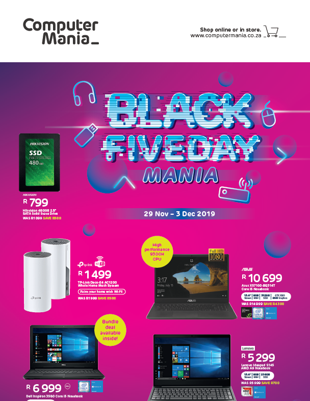 Computer Mania: Black Friday Promotions