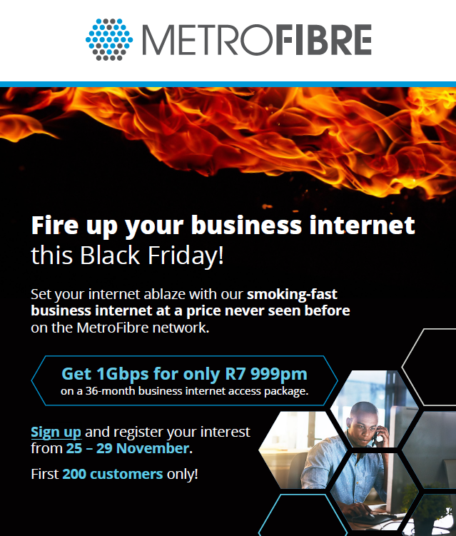 MetroFibre Networx: Black Friday Promotion