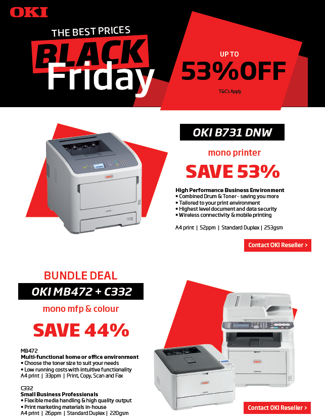 Printacom OKI: Black Friday Promotions