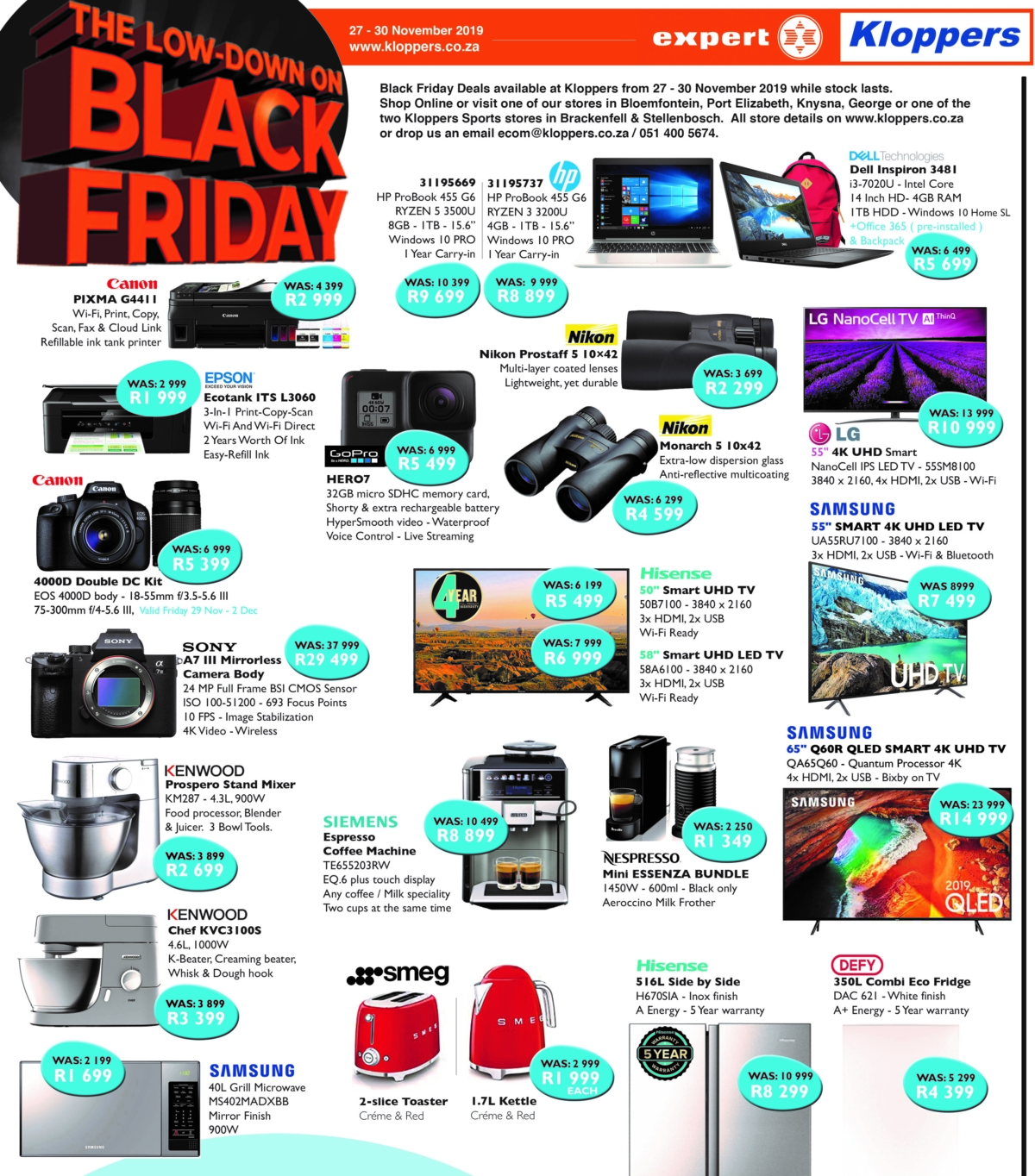 Kloppers: Black Friday Promotions