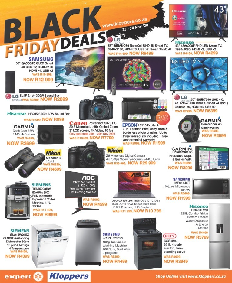 Kloppers: Black Friday Promotions 2020